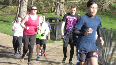 Some of the 456 runners, joggers and walkers who took part in Saturday's Ipswich parkrun, in Christc