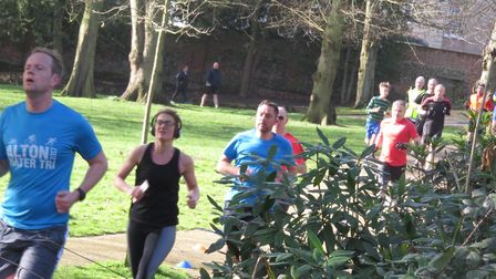 Runners make their way around a two-lap course in Christchurch Park. Picture: IPSWICH PARKRUN FACEB