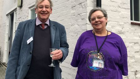 Robin Hodgkinson, trustee board chairman, with Teresa Bishop, Christopher Centre manager Picture: AR