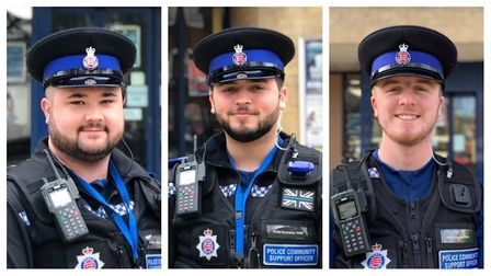 PCSOs Dean Athawes, Harrison Defreitas and Michael Kearley will look to deal with anti-social behavi