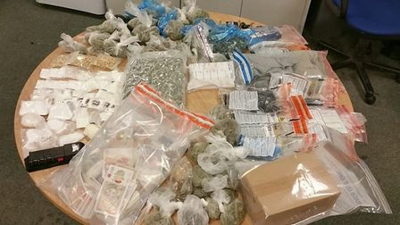 A large stash of drugs and money was discovered in a vehicle in Earls Colne Picture: ESSEX POLICE