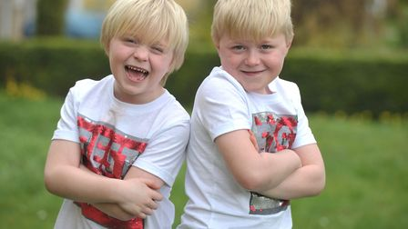 Seven year old twins, Stanley and Vinny Cremen are having their heads shaved to raise money for Canc