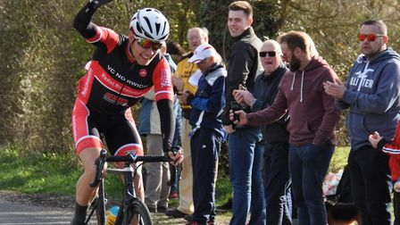 Steven Parsonage (VC Norwich) wins the 76 mile race in north Suffolk. Picture: JOHN SWANBURY