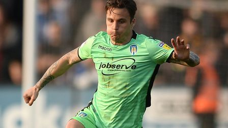 Colchester United's recent new recruit, Sam Saunders, who made his U's debut as a substitute at Camb