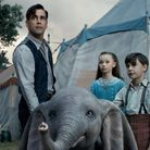 The Farrier family with Dumbo in Tim Burton's idiosyncratic remake of the Disney anaimated classic