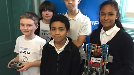 Members of the North School roboteers preparing for a trip to Kentucky. Picture: Colchester North Pr