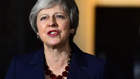 Prime minister Theresa May makes a statement outside 10 Downing Street... in one of her statement ne