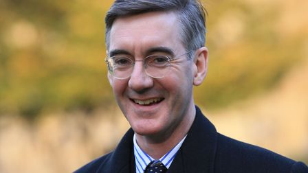 Not all of MP Jacob Rees-Mogg's books would be in Latin. Picture: JONATHAN BRADY/PA WIRE