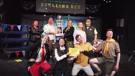 The cast of Gallery Players' The 25th Annual Putnam County Spelling Bee - at the Sir John Mills Thea