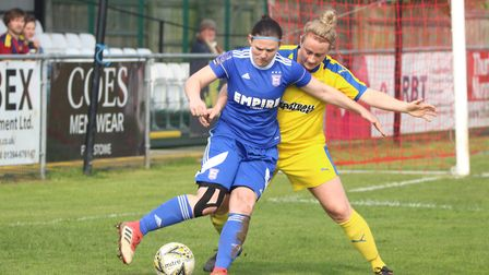 Town forward Toni-Anne Wayne guards the ball Picture: ROSS HALLS