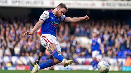 Alan Judge is keen to score his first goal for Ipswich Town. Photo: Steve Waller