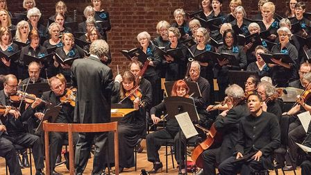 Ipswich Choral Society performing at Snape Maltings Concert Hall where they gave audiences works by
