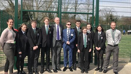 Representatives from Seckford Education Trust and the school officially opened the facility on Frida