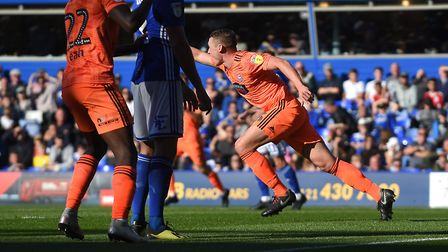 Pennington's only Ipswich Town goal came at Birmingham in September. Picture Pagepix