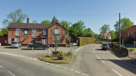 The crash happened near The Cherry Tree pub in Yaxley Picture: GOOGLE MAPS