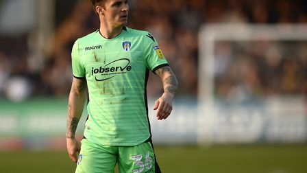 Sam Saunders, pictured on his Colchester United debut at Cambridge United last weekend. Picture: RIC