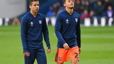 Tristan Nydam and Andre Dozzell among the substitutes at West Brom. Photo: Pagepix