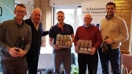 The runners-up at the golf day Bill Darling, Tom Darling, Dale Watlin (Stowmarket) and Charlie Wilde