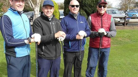 The third place team at the event Matt Wyatt, Tony Emms, Dick Lumsden and Adrian Cherry Picture: RUS