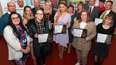 All of the winners together celebrating their awards Picture: WARREN PAGE
