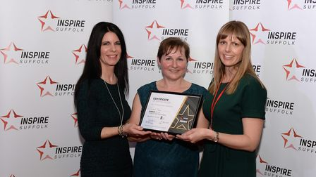 Team of the Year, the Finance Team with Marianne Flack, Suffolk New College Picture: WARREN PAGE