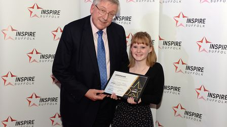 Young Person of the Year, Daisy Theobald-Newman and Cllr Gordon Jones Picture: WARREN PAGE
