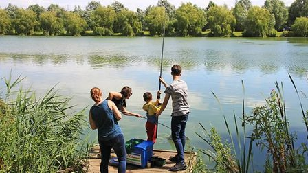 It is legal to fish at Suffolk Water Park - but you need to make sure you have the right rod licence