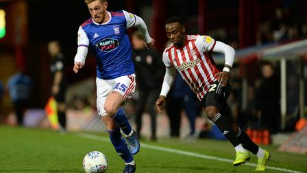 Teddy Bishop charges forwards at Brentford Picture Pagepix