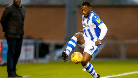 Ryan Jackson in action against one of his former clubs, Macclesfield Town, with Silkmen boss Sol Cam