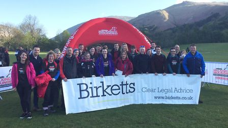 Birketts staff supporting Walking with the Wounded in Cumbria in 2018. Picture: BIRKETTS