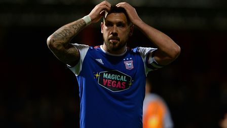 Luke Chambers after the final whistle at Brentford. Photo: Pagepix