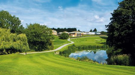 Stoke by Nayland Hotel from the 18th tee of Gainsborough Golf Course Picture: STOKE BY NAYLAND HOT