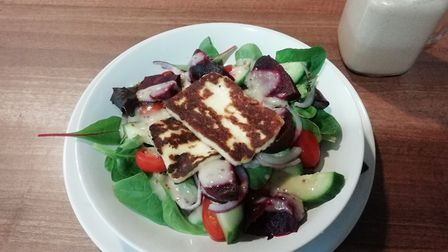 Cabbages & Kings review - halloumi and beetroot salad