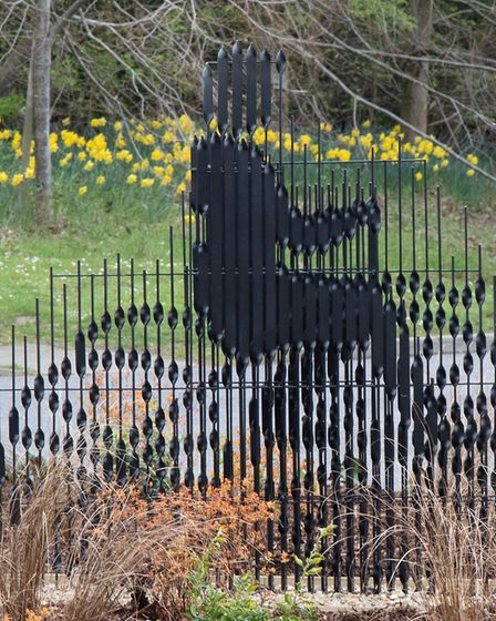 The James Moore sculpture has been unveiled in Bury St Edmunds Picture: JO SWEETMAN