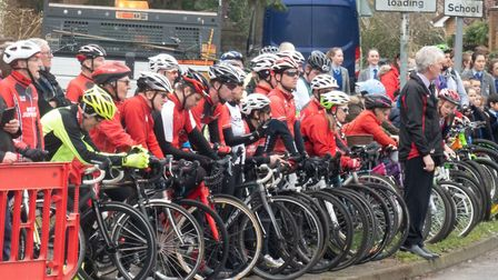 Members of the West Suffolk Wheelers cycling club attended the ceremony Picture: JO SWEETMAN