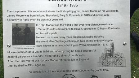 The plaque at the Mount Road roundabout Picture: MICHAEL STEWARD
