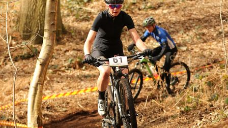 Bury rider Emily Quantrill on her way to her first Elite/Expert win at Henham Park. Picture: FERGUS