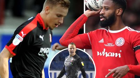 Luke Woolfenden, Janoi Donacien and Danny Rowe are all currently out on loan. Picture: PA/SWINDONADV