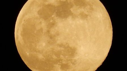 The supermoon was captured on Wednesday March 20 in Bungay, Suffolk. Picture: TREVOR ROBERT PAGE