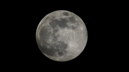 Julie Kemp took this shot of the supermoon in Woodbridge. Picture: JULIE KEMP