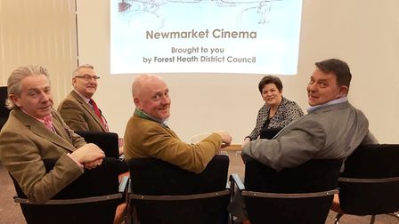 Left to right: Forest Heath cabinet members Andy Drummond, David Bowman, Lance Stanbury, Ruth Bowman