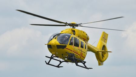 Police said an air ambulance crew was called to the scene of a serious crash between Long Melford an