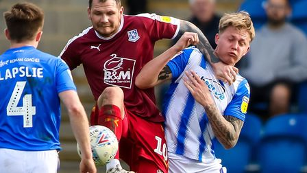 Action from Saturday's 2-0 home defeat to Tranmere Rovers, where opening goalscorer James Norwood ke
