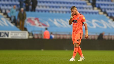 Luke Chambers at the final whistle at Wigan Picture Pagepix