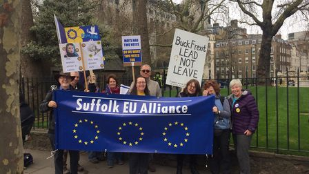 Supporters of the Suffolk EU Alliance at the march calling for a second Brexit referendum Picture: S