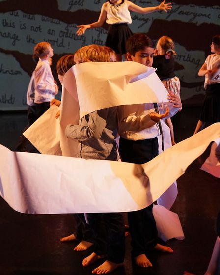 Youngster perform in the Machinery of Change at DanceEast Picture: SAMANTHA MOSS