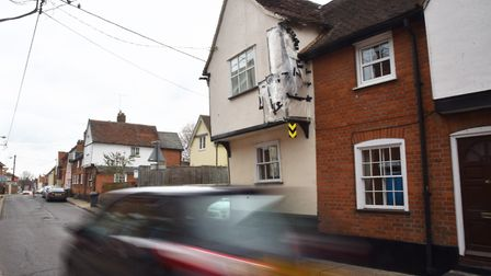 Emma Heath's home on Benton Street in Hadleigh which has been struck several times in the last year