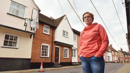 Emma Heath outside her home on Benton Street in Hadleigh Picture: SONYA DUNCAN