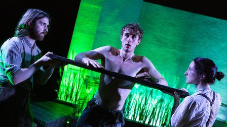 Abe Buckoke, Benjamin Teare, Laura Costello in Eastern Angles spring tour The Tide Jetty, an atmosph