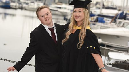 Alex Munn, a recent graduate of University of Suffolk and owner of Project 21 - alongside one of the